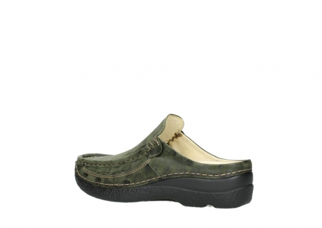 wolky clogs 06202 roll slide 12730 forestgreen nubuck_3
