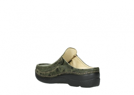 wolky clogs 06202 roll slide 12730 forestgreen nubuck_4