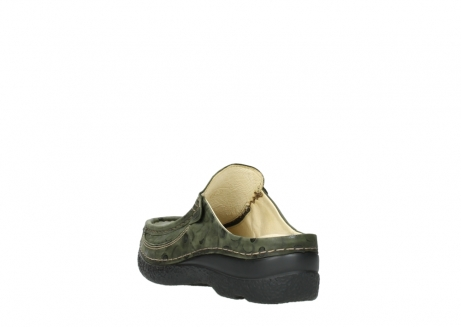 wolky clogs 06202 roll slide 12730 forestgreen nubuck_5