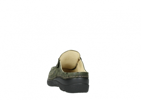 wolky clogs 06202 roll slide 12730 forestgreen nubuck_6