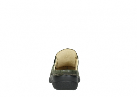 wolky clogs 06202 roll slide 12730 forestgreen nubuck_7