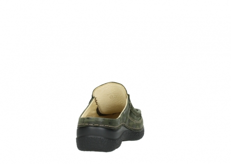wolky clogs 06202 roll slide 12730 forestgreen nubuck_8