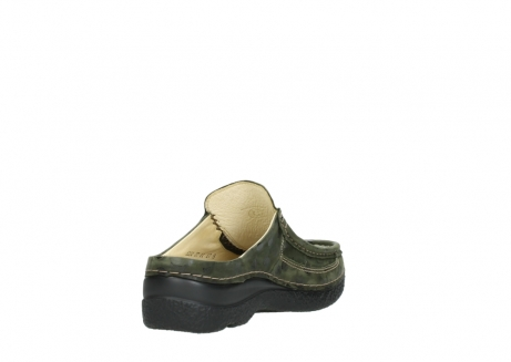 wolky clogs 06202 roll slide 12730 forestgreen nubuck_9