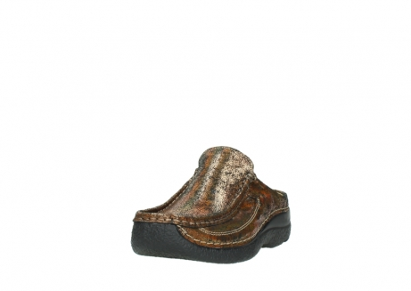 wolky klompen 06202 roll slide 40320 brons geprint suede_21