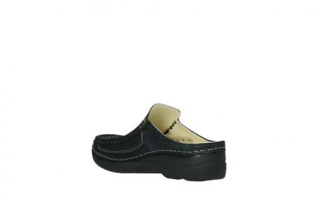 wolky clogs 06202 roll slide 43800 blue metal suede_10