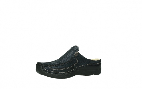wolky clogs 06202 roll slide 43800 blue metal suede_15