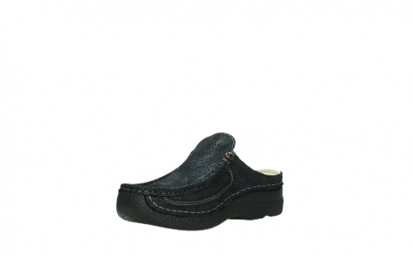 wolky clogs 06202 roll slide 43800 blue metal suede_16