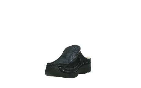 wolky clogs 06202 roll slide 43800 blue metal suede_17