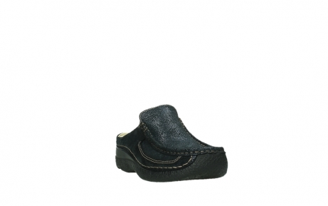 wolky clogs 06202 roll slide 43800 blue metal suede_21