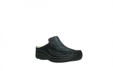 wolky clogs 06202 roll slide 43800 blue metal suede_22