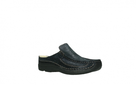wolky clogs 06202 roll slide 43800 blue metal suede_23