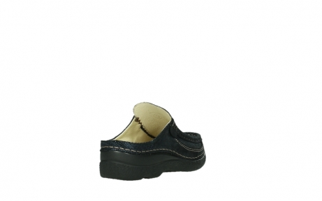 wolky clogs 06202 roll slide 43800 blue metal suede_5