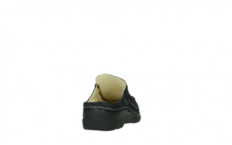 wolky clogs 06202 roll slide 43800 blue metal suede_6