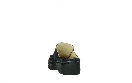 wolky clogs 06202 roll slide 43800 blue metal suede_8