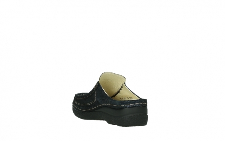 wolky clogs 06202 roll slide 43800 blue metal suede_9