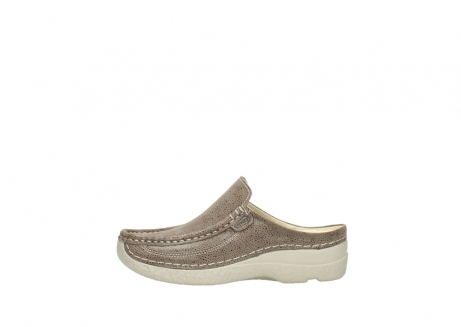 wolky clogs 06202 roll slide 90150 taupe dots nubuck_1