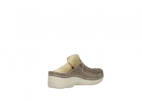 wolky clogs 06202 roll slide 90150 taupe dots nubuck_10