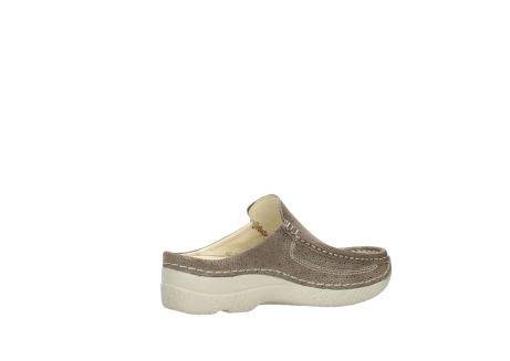 wolky clogs 06202 roll slide 90150 taupe dots nubuck_11