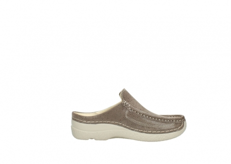 wolky clogs 06202 roll slide 90150 taupe dots nubuck_13