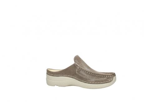 wolky clogs 06202 roll slide 90150 taupe dots nubuck_14