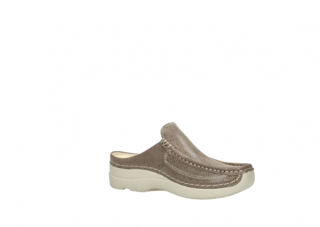 wolky clogs 06202 roll slide 90150 taupe dots nubuck_15