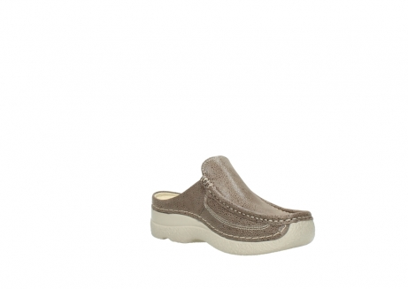 wolky clogs 06202 roll slide 90150 taupe dots nubuck_16