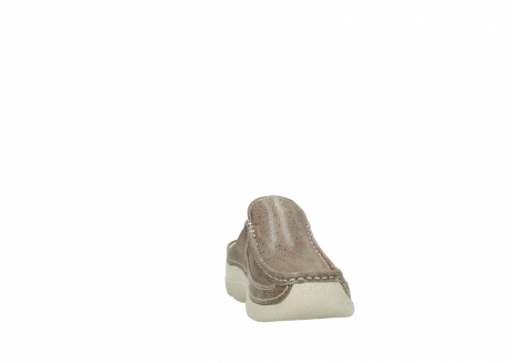 wolky clogs 06202 roll slide 90150 taupe dots nubuck_18