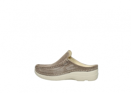 wolky clogs 06202 roll slide 90150 taupe dots nubuck_2