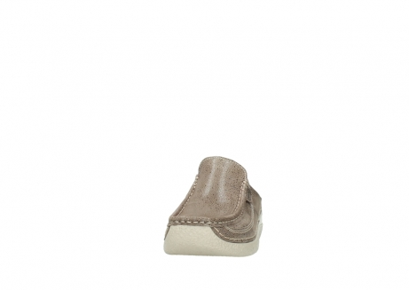 wolky clogs 06202 roll slide 90150 taupe dots nubuck_20
