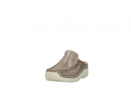wolky clogs 06202 roll slide 90150 taupe dots nubuck_21