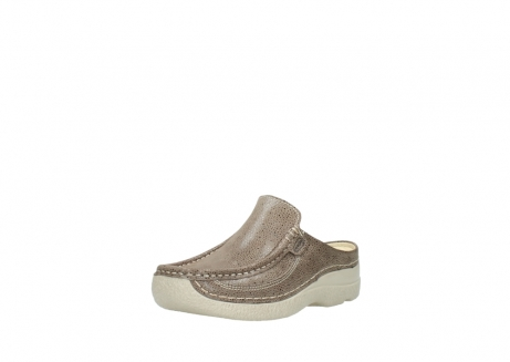 wolky clogs 06202 roll slide 90150 taupe dots nubuck_22