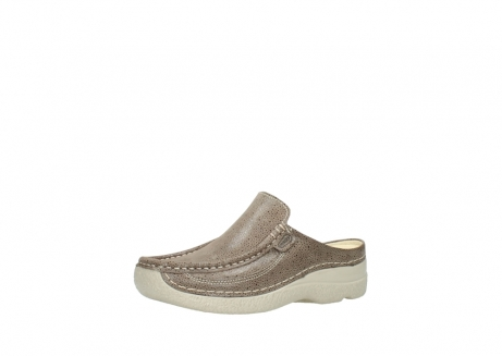 wolky clogs 06202 roll slide 90150 taupe dots nubuck_23