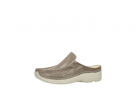wolky clogs 06202 roll slide 90150 taupe dots nubuck_24