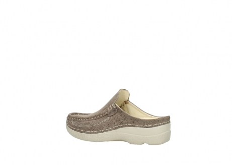 wolky clogs 06202 roll slide 90150 taupe dots nubuck_3