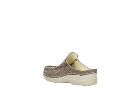 wolky clogs 06202 roll slide 90150 taupe dots nubuck_4