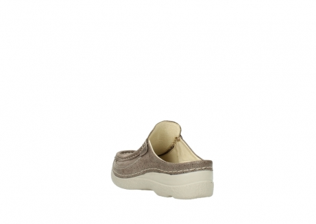 wolky clogs 06202 roll slide 90150 taupe dots nubuck_5