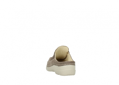 wolky clogs 06202 roll slide 90150 taupe dots nubuck_6