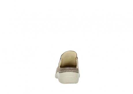 wolky clogs 06202 roll slide 90150 taupe dots nubuck_7