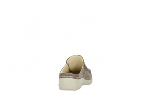 wolky clogs 06202 roll slide 90150 taupe dots nubuck_8