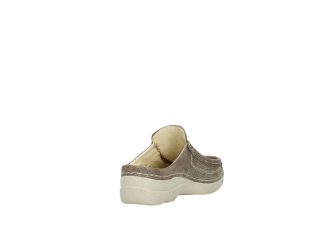 wolky clogs 06202 roll slide 90150 taupe dots nubuck_9