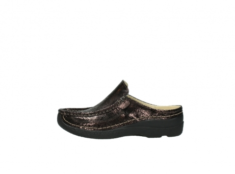 wolky clogs 06202 roll slide 90300 brown craquele leather_1