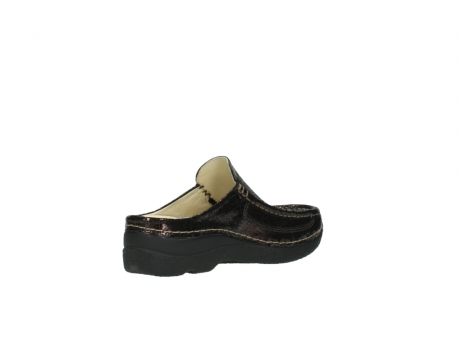 wolky clogs 06202 roll slide 90300 brown craquele leather_10