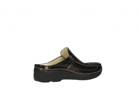 wolky clogs 06202 roll slide 90300 brown craquele leather_11