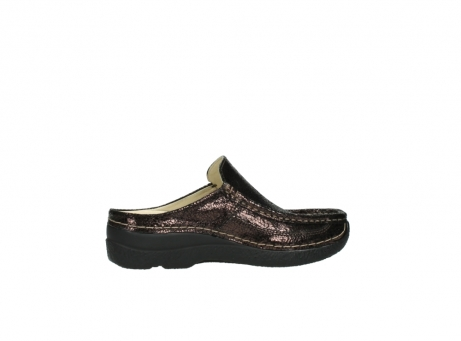 wolky clogs 06202 roll slide 90300 brown craquele leather_12