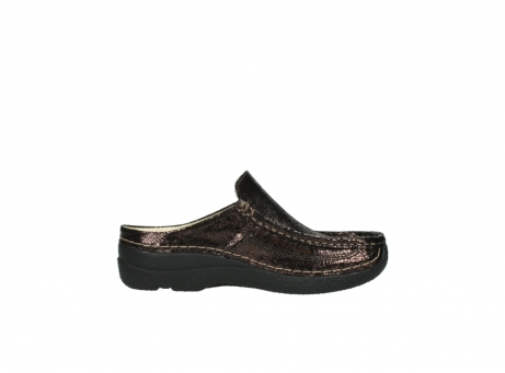 wolky clogs 06202 roll slide 90300 brown craquele leather_13