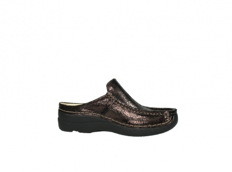 wolky clogs 06202 roll slide 90300 brown craquele leather_14