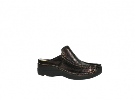 wolky clogs 06202 roll slide 90300 brown craquele leather_15