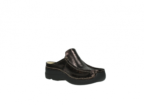 wolky clogs 06202 roll slide 90300 brown craquele leather_16
