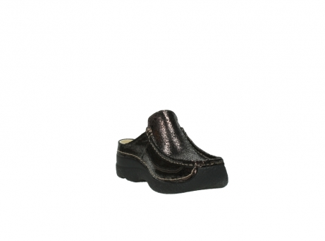wolky clogs 06202 roll slide 90300 brown craquele leather_17