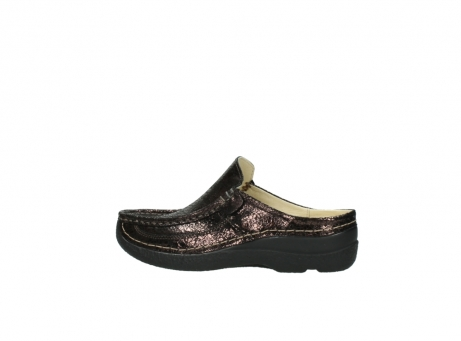 wolky clogs 06202 roll slide 90300 brown craquele leather_2